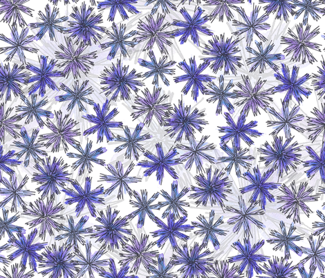 Purple Flowers fabric by robyriker on Spoonflower - custom fabric