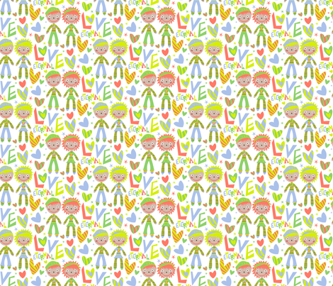 Raggedy new color test fabric by happyjonestextiles on Spoonflower - custom fabric