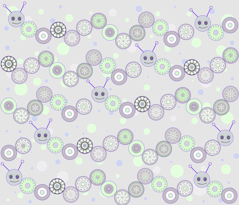 smiling catapillars fabric by emmacdesigns on Spoonflower - custom fabric