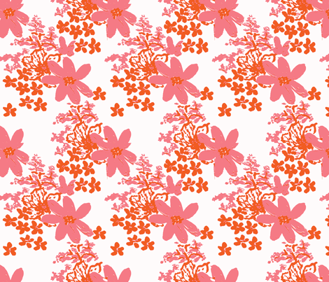 tiger lilly and daisy  fabric by palmrowprints on Spoonflower - custom fabric
