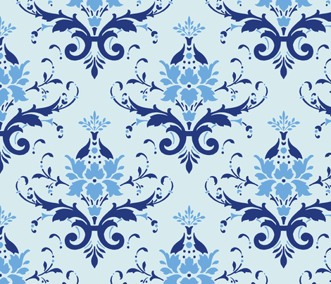 Victorian Flourish (blue)