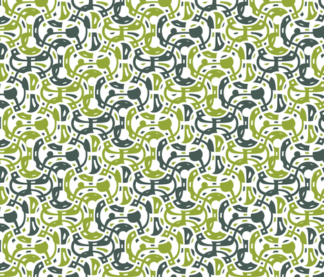 Telephone - spring fabric by ormolu on Spoonflower - custom fabric