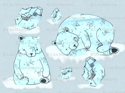 Floating polar bears