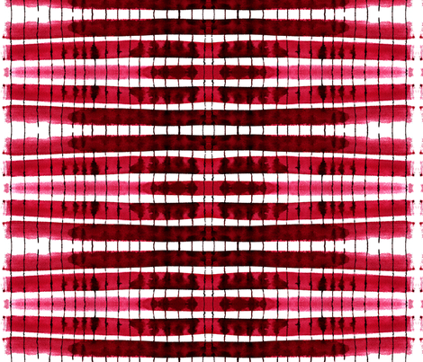 cestlaviv_kitchen stripes red fabric by cest_la_viv on Spoonflower - custom fabric
