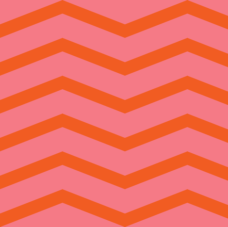 chevron (orange blossom and bubble gum) fabric by palmrowprints on Spoonflower - custom fabric