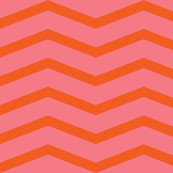 chevron (orange blossom and bubble gum)