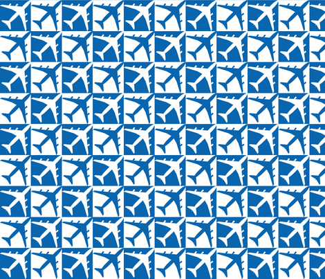 Dark Blue Plane Check  fabric by toothpanda on Spoonflower - custom fabric