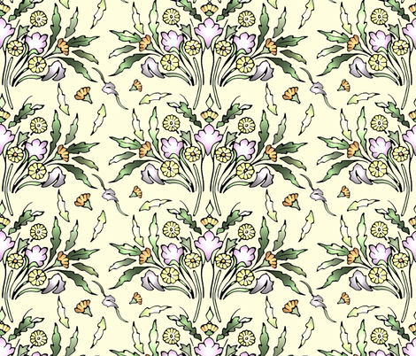 Aurora's Garden fabric by rima on Spoonflower - custom fabric