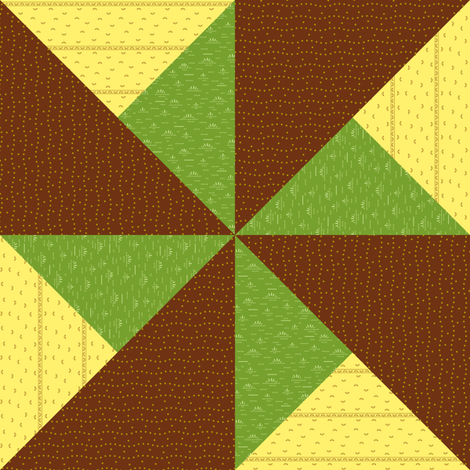 USGS Double Pinwheel fabric by toothpanda on Spoonflower - custom fabric