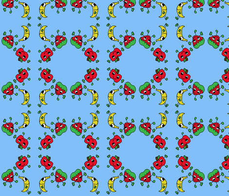 Fruity Friends fabric by kali_d on Spoonflower - custom fabric