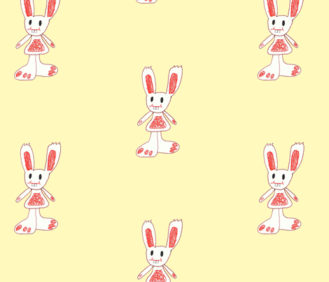 lily_s_rabbit fabric by applemuffinme on Spoonflower - custom fabric