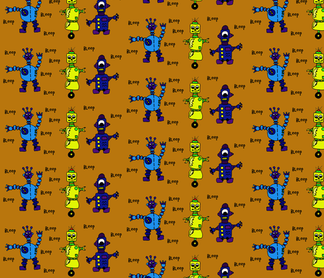robots11 fabric by sharpestudiosdesigns on Spoonflower - custom fabric