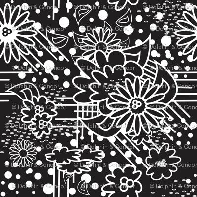 FloralPow Noir