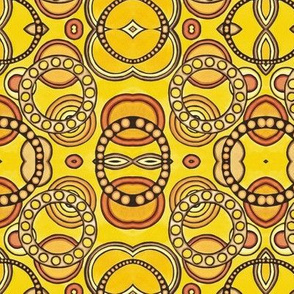 Yellow Circles Mirrow