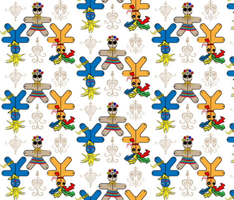 Love Poppets fabric by happyhappymeowmeow on Spoonflower - custom fabric