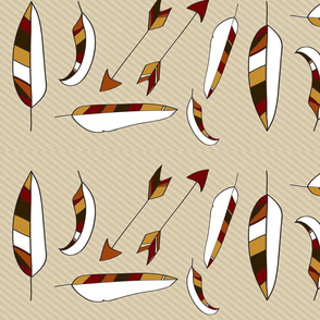 Aztec feathers and arrows