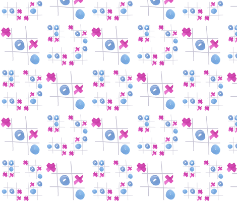 cestlaviv_tic tac toe fabric by cest_la_viv on Spoonflower - custom fabric