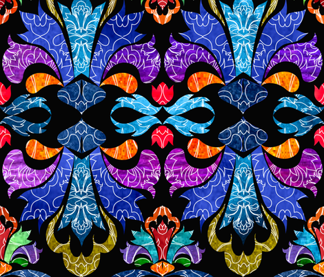 Damask! fabric by vo_aka_virginiao on Spoonflower - custom fabric