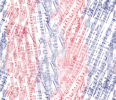 Patriotic Melody fabric by aftermyart on Spoonflower - custom fabric