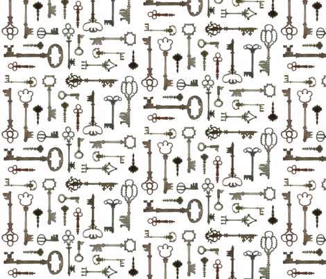 Boboli Keys - Florentine Collection  fabric by gollybard on Spoonflower - custom fabric