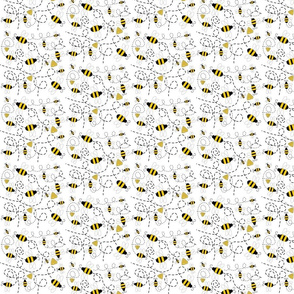 guinea_hen_fabric_3 bees