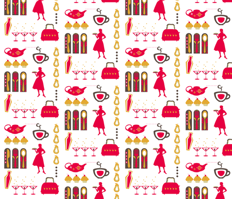 Retrodish fabric by ninjaauntsdesigns on Spoonflower - custom fabric
