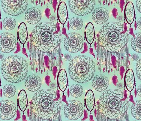 Dreamers1-sm fabric by zeryndipity on Spoonflower - custom fabric