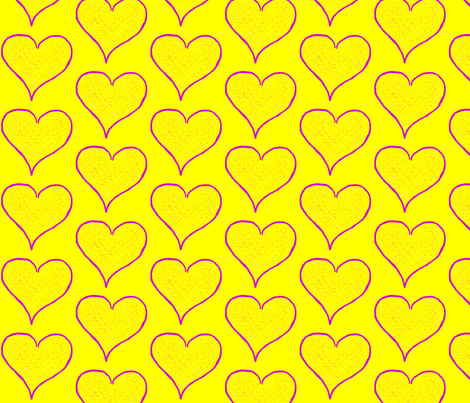 Sizzle Hearts fabric by anniedeb on Spoonflower - custom fabric