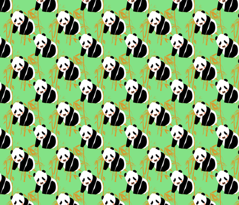panda-monium fabric by suziwollman on Spoonflower - custom fabric