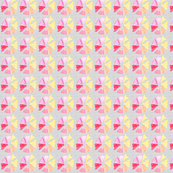 Pink Pinwheel on Linen