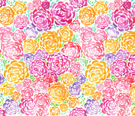 Floral_Watercolor fabric by stacyiesthsu on Spoonflower - custom fabric