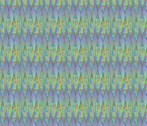 SkinnyLeavesOilBublesFillMERGEDVibrancy_DkPurpleVeinsOFFSETGreenWCGradientBkgrnd3 fabric by shannonkornis on Spoonflower - custom fabric