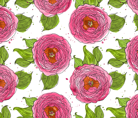 CotyFlower fabric by coty on Spoonflower - custom fabric