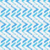 Blue Design on Driftwood