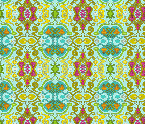 fantastical ikat fabric by scrummy on Spoonflower - custom fabric