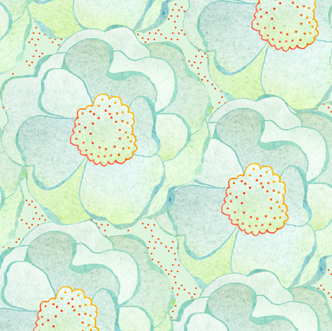 Dawn blossoms fabric by sandeehjorth on Spoonflower - custom fabric