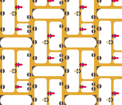 Icebox Grid-ch fabric by boris_thumbkin on Spoonflower - custom fabric