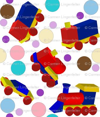 Block Trucks and Polka Dots