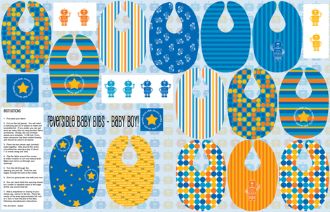 Reversible Bibs - Baby Boy fabric by shelleymade on Spoonflower - custom fabric