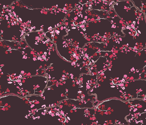 branches_dark_grey fabric by katarina on Spoonflower - custom fabric