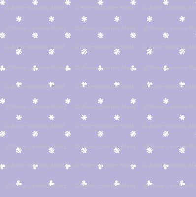 Polka leaves flowers and butterflies Purple