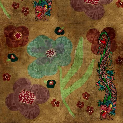 bohemian dragon fabric by paragonstudios on Spoonflower - custom fabric