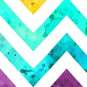 largest watercolor chevron rainbow