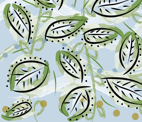 leaf44 fabric by owlandchickadee on Spoonflower - custom fabric