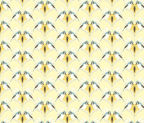 Birds fabric by recco on Spoonflower - custom fabric