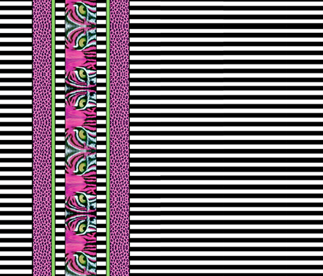 Wild about Pink fabric by whimzwhirled on Spoonflower - custom fabric