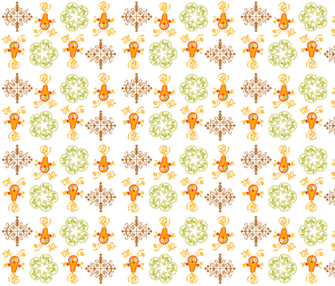 Voodoo Talismans-Citrus fabric by happyhappymeowmeow on Spoonflower - custom fabric