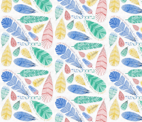 FEATHERS fabric by j9design on Spoonflower - custom fabric