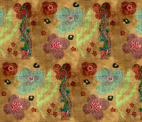 Bohemian dragon #1 fabric by paragonstudios on Spoonflower - custom fabric