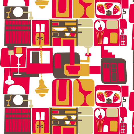 Retro Kitchen fabric by boris_thumbkin on Spoonflower - custom fabric